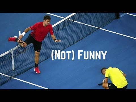 Tennis. Hitting The Opponent - (Not) Funny Moments
