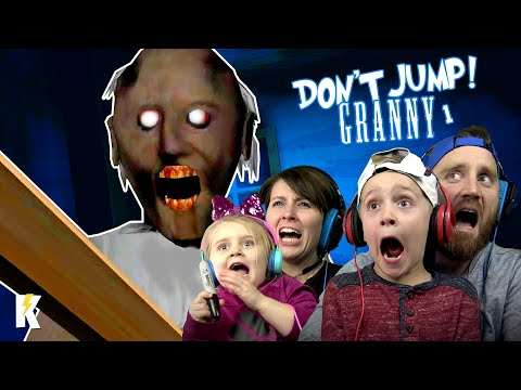 Try not to JUMP in GRANNY Horror Game Family Challenge! |  KIDCITY GAMING