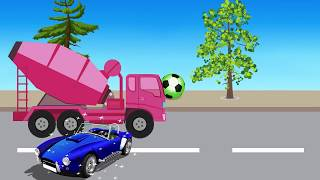 Learn Colors with Cars and Surprise Eggs