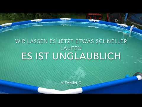 Poolpflege mit Vitamin C bei Grünem Poolwasser