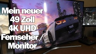 Mein neuer 49 Zoll 4K UHD Fernseher / Monitor von Samsung ( UE 49 MU6179 U )