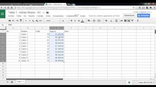 3 - Tabla 1 - Hoja de Calculo Google Drive