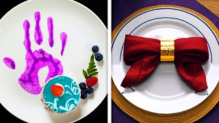 MAKE DINNER OF YOUR DREAM || 46 FOOD IDEAS, WAYS TO FOLD NAPKIN AND ETIQUETTE RULES