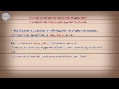 Ударение в словах современного русского языка