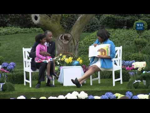 White House Easter Egg Roll: Reading Nook with  US Secretary of HUD Ben Carson