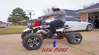 How To Ride An Atv… I Taught Him On A Banshee!!