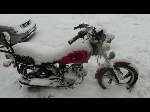Как заводится Альфа под слоем снега и как не нужно хранить технику!