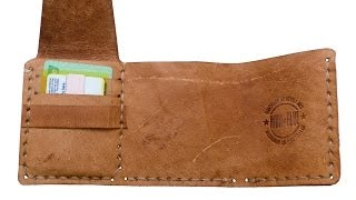 Making a leather wallet based on The Secret Life of Walter Mitty