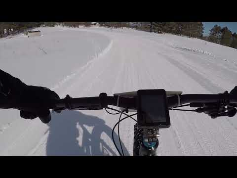 Fat Birkie Bike Patrol on an Electric Assist Fat Bike