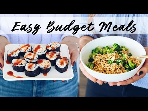 EASY VEGAN BUDGET MEALS (great for students!)