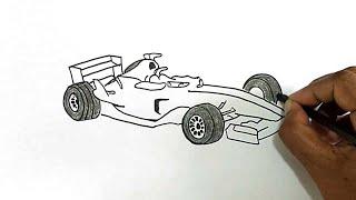 How to Draw a Formula 1 Car