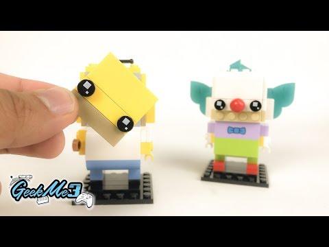 Vidéo LEGO BrickHeadz 41632 : Homer Simpson & Krusty le Clown