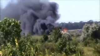 Сепаратисты засекли и расстреляли джип с разведчиками - Видео онлайн