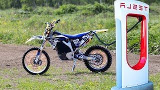 DIY Electric Yamaha YZ250!  Wild Electric Power!