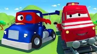 Siêu xe tải - xe lửa Troy 🚉 l những bộ phim hoạt hình về xe tải dành cho thiếu nhi