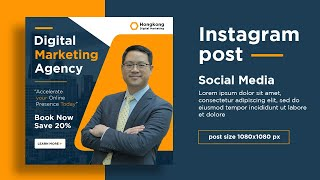 Social Media Banner Design For Digital Marketing Agency | Instagram Post Design