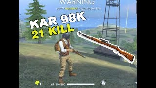 Spesialis Kar98k  21 KILL - FREE FIRE BATTLEGROUND INDONESIA-JAMPES SQUAD
