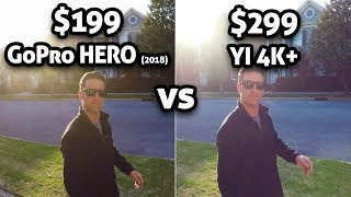 $199 GoPro HERO vs $299 YI 4K+!!