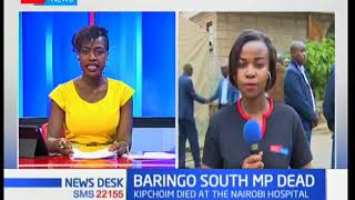 News Desk Bulletin: Baringo South MP Grace Kipchoim has passed on at the Nairobi Hospital