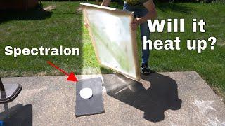 Spectralon The World's Whitest Material Vs Giant Solar Scorcher—Will It Heat Up?