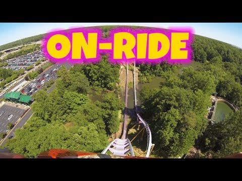 Apollos Chariot On-ride Front Seat (HD POV) Busch Gardens Williamsburg