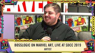 Artist Bosslogic on sampling the world for his Mavel art LIVE at SDCC 2019!