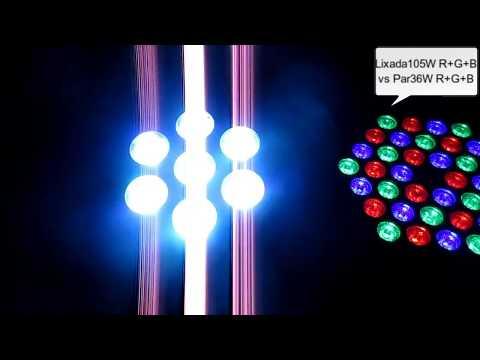 Lixada 7 LEDs 105W RGBW 9/14 Channel DMX512 Mini Stage Light
