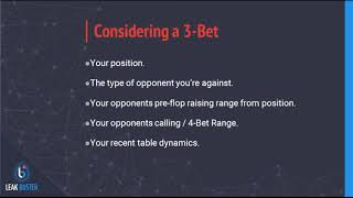 Playing in 3-bet Pots
