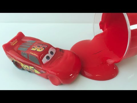 Disney Cars Toys and Learn Colors with Finger Paint for Kids / Pj Masks Wrong Heads