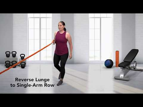 How to do a Reverse Lunge to Single-Arm Row