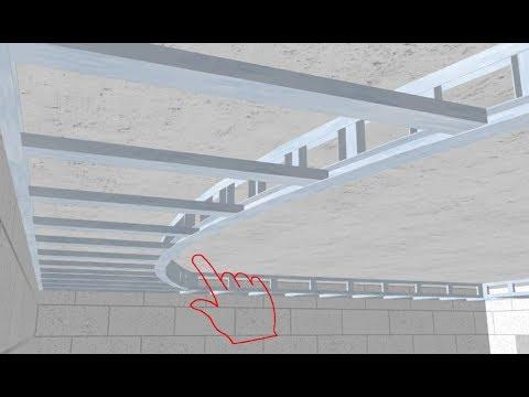 Двухуровневый потолок из гипсокартона поэтапно / A two-level ceiling of plasterboard (English subs)