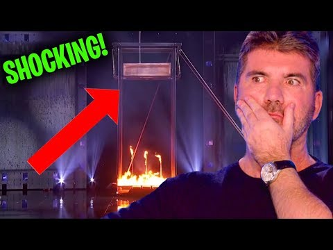 This Magician Almost Died Live On Stage *SHOCKING* (Americas Got Talent) (видео)