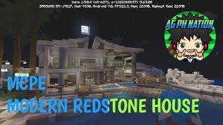 how to build a modern redstone house in minecraft pe
