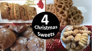4 Christmas Sweets | KulKuls | Rich Cake | Marzipan | Rose Cookies - Download this Video in MP3, M4A, WEBM, MP4, 3GP