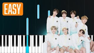 """Video thumbnail of """"BTS - """"Airplane pt2"""" 100% EASY PIANO TUTORIAL"""""""