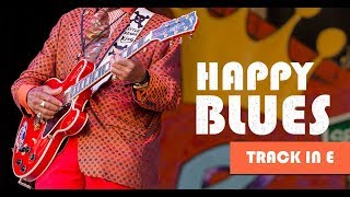 Happy Blues Backing Track In E