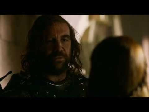 Game of Thrones S02E07 Sandor Clegane and Sansa Stark