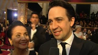Lin-Manuel Miranda talks ACLU support and more at the Oscars