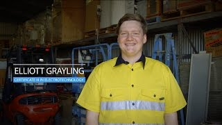 Elliot Grayling (Certificate III in Electrotechnology Electrician), VIC