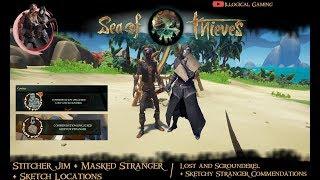 Stitcher Jim + Masked Stranger & Hidden Sketch Locations - Sea of Thieves - Smuggler's Fortune