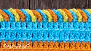 HOW to CROCHET the CHAIN LOOP BORDER EDGING for a Scarf or Blanket by Naztazia