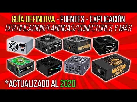 ⛔ NO COMPRES UNA FUENTE DE ALIMENTACION SIN VER ESTE VIDEO! GUÍA DE PSU POWER SUPPLY DEFINITIVA 2020