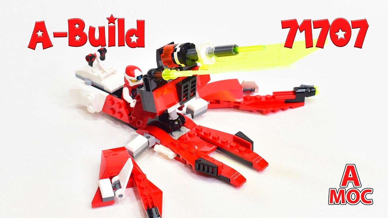 Kai`s Flyer and Laser Cannon 2 in 1 transformation Alternative build LEGO 71707 (A MOC)
