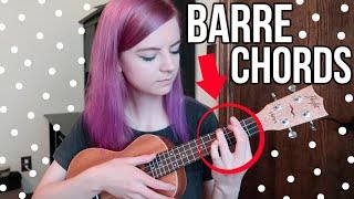 How To Play Barre Chords! (tips & Advice To Step Up Your Ukulele Game🌟)