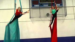 Billie Eilish and Simone Midby do Aerial Silks at Foshay performance