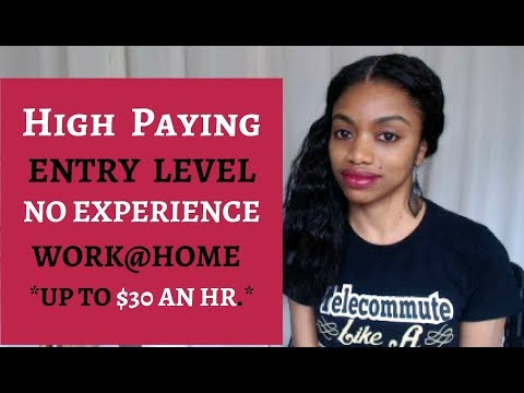 High Paying. Entry Level. No Experience. Up To $30 An Hr. Work@Home!
