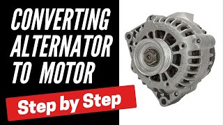 Convert Alternator to Brushless Motor