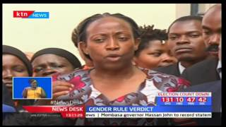 Civil society groups react to ruling by High Court Judge John Mutivo on Gender Rule