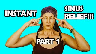 How to relieve sinus pressure and sinus pain with self massage (INSTANT!)
