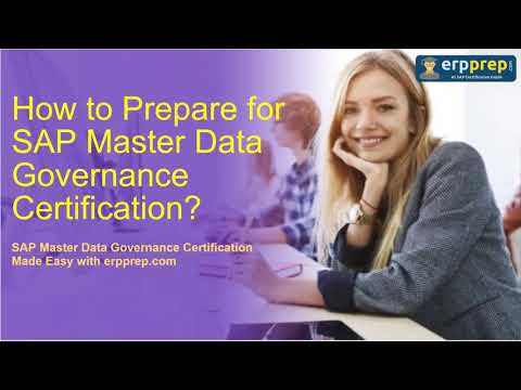 How to Prepare for SAP Master Data Governance (C_MDG_1909 ...